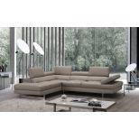 ✅ A761 Italian Leather Sectional, Left Hand Facing, Peanut | VivaSalotti.com | pic1
