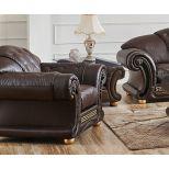 ✅ Apolo Brown Italian Leather Living Room Set by ESF | VivaSalotti.com | pic41