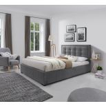 ✅ Duke Fabric King Size Platform Bed, Grey   VivaSalotti.com   pic2