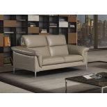 ✅ Eden Premium Leather Loveseat, Taupe | VivaSalotti.com | pic
