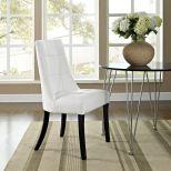 ✅ Noblesse Dining Vinyl Side Chair (White) | VivaSalotti.com | pic
