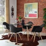 ✅ Pyramid Dining Armchair Set of 4 (Black) | VivaSalotti.com | pic