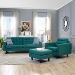 ✅ Empress Armchair and Sofa Set of 2 (Teal) | VivaSalotti.com | pic
