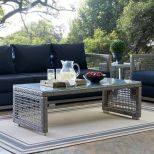 ✅ Aura Rattan Outdoor Patio Coffee Table in Gray   VivaSalotti.com   pic