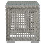 ✅ Aura Outdoor Patio Wicker Rattan Side Table in Gray   VivaSalotti.com   pic5