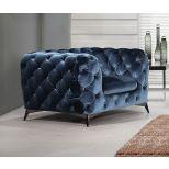 ✅ Glitz Velour Fabric Chair, Blue   VivaSalotti.com   pic5