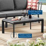 ✅ Riverside Aluminum Outdoor Patio Coffee Table in Gray | VivaSalotti.com | pic3