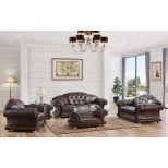 ✅ Apolo Brown Italian Leather Living Room Set by ESF | VivaSalotti.com | pic
