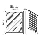 ✅ New York Modern Mirror, Grey   VivaSalotti.com   pic2
