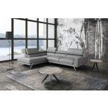 ✅ Mood Premium Leather Left Hand Facing Sectional, Grey | VivaSalotti.com | pic6