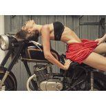✅ Premium Acrylic Wall Art Motorcycle Women | VivaSalotti.com | pic1