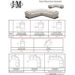 ✅ Nova 5pc Motion Sectional, Silver Grey   VivaSalotti.com   pic5