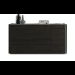✅ Porto Premium Wood Veneer Dresser, Light Grey/Wenge | VivaSalotti.com | pic2