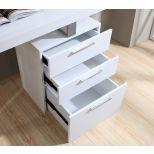 ✅ Vienna Modern Office Desk with Storage Drawers, White   VivaSalotti.com   pic3