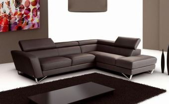✅ Sparta Right Hand Facing Sectional in Chocolate | VivaSalotti.com | pic1