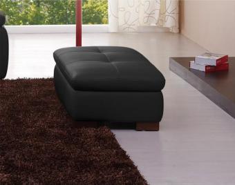 ✅ 625 Italian Leather Ottoman in Black   VivaSalotti.com   pic2