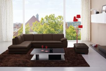 ✅ 625 Italian Leather Sectional Brown in Left Hand Facing    VivaSalotti.com   pic2