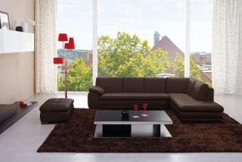 ✅ 625 Italian Leather Sectional Brown in Right Hand Facing   VivaSalotti.com   pic2