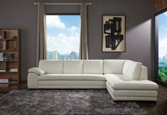 ✅ 625 Italian Leather Sectional White in Right Hand Facing   VivaSalotti.com   pic2