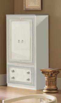 ✅ Aida Classic Two Door Wardrobe by ESF, White and Silver | VivaSalotti.com | pic