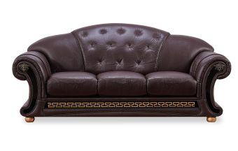 ✅ Apolo Brown Italian Leather Sofa by ESF | VivaSalotti.com | pic1