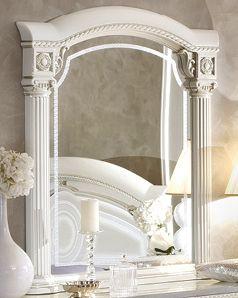 ✅ Aida Classic Mirror by ESF, White and Silver | VivaSalotti.com | pic