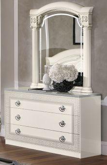 ✅ Aida Classic Single Dresser by ESF, White and Silver | VivaSalotti.com | pic