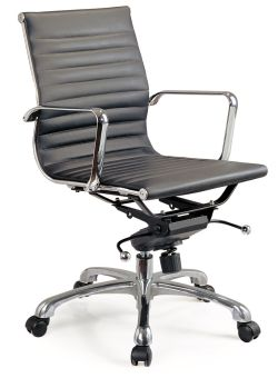 ✅ Comfy Low Back Black Office Chair   VivaSalotti.com   pic2