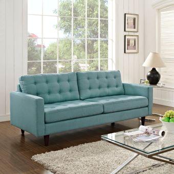 Empress Upholstered Fabric Sofa (Laguna)