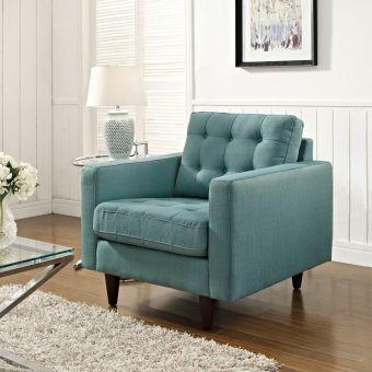 Empress Upholstered Fabric Armchair (Laguna)