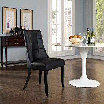 Noblesse Dining Vinyl Side Chair (Black)