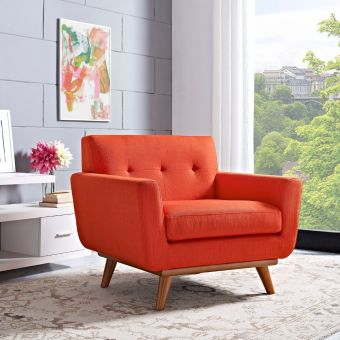 Engage Upholstered Fabric Armchair (Atomic Red)