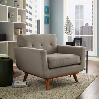 Engage Upholstered Fabric Armchair (Granite)