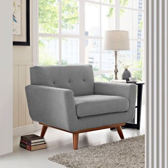 Engage Upholstered Fabric Armchair (Expectation Gray)