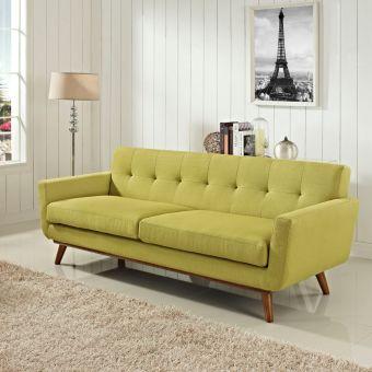 Engage Upholstered Fabric Sofa (Wheatgrass)
