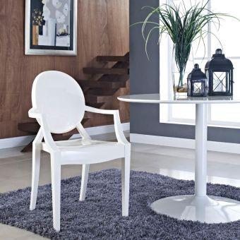 Casper Dining Armchair (White)