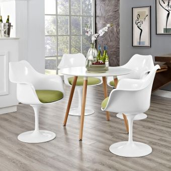 Lippa Dining Armchair Set of 4 (Green)