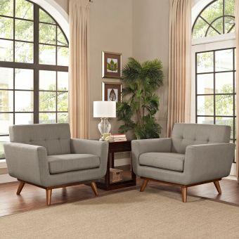Engage Armchair Wood Set of 2 (Granite)
