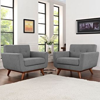 Engage Armchair Wood Set of 2 (Expectation Gray)