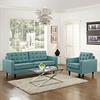 Empress Armchair and Sofa Set of 2 (Laguna)