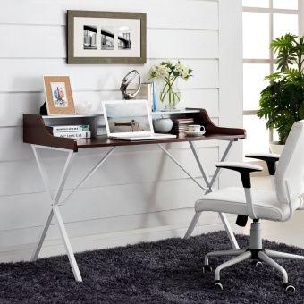 Bin Office Desk (Cherry)