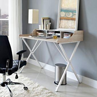 Bin Office Desk (Oak)