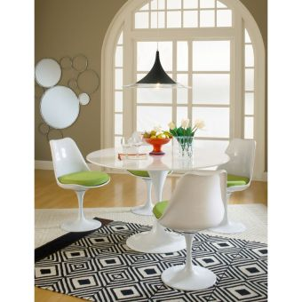 Lippa Dining Side Chair Fabric Set of 4 (Green)