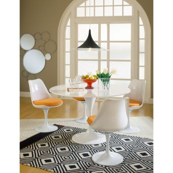 Lippa Dining Side Chair Fabric Set of 4 (Red)