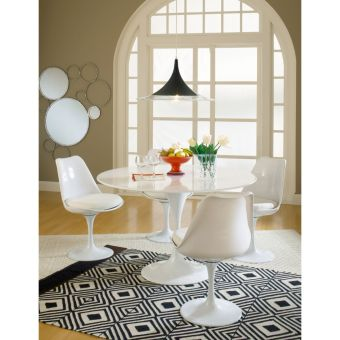 Lippa Dining Side Chair Fabric Set of 4 (White)