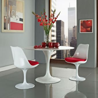 Lippa Dining Side Chair Set of 2 (Red)
