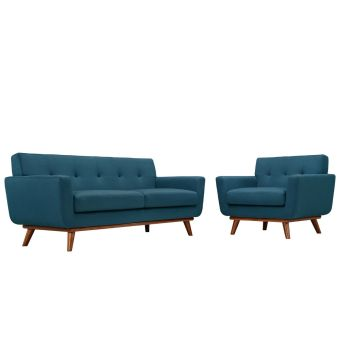 Engage Armchair and Loveseat Set of 2 (Azure)