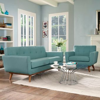Engage Armchair and Loveseat Set of 2 (Laguna)