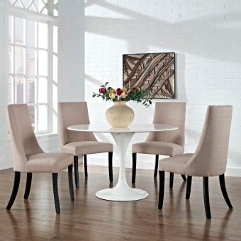 Reverie Dining Side Chair Set of 4 (Beige)