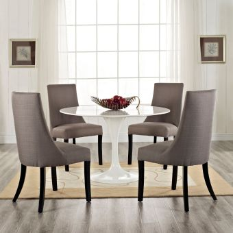 Reverie Dining Side Chair Set of 4 (Gray)